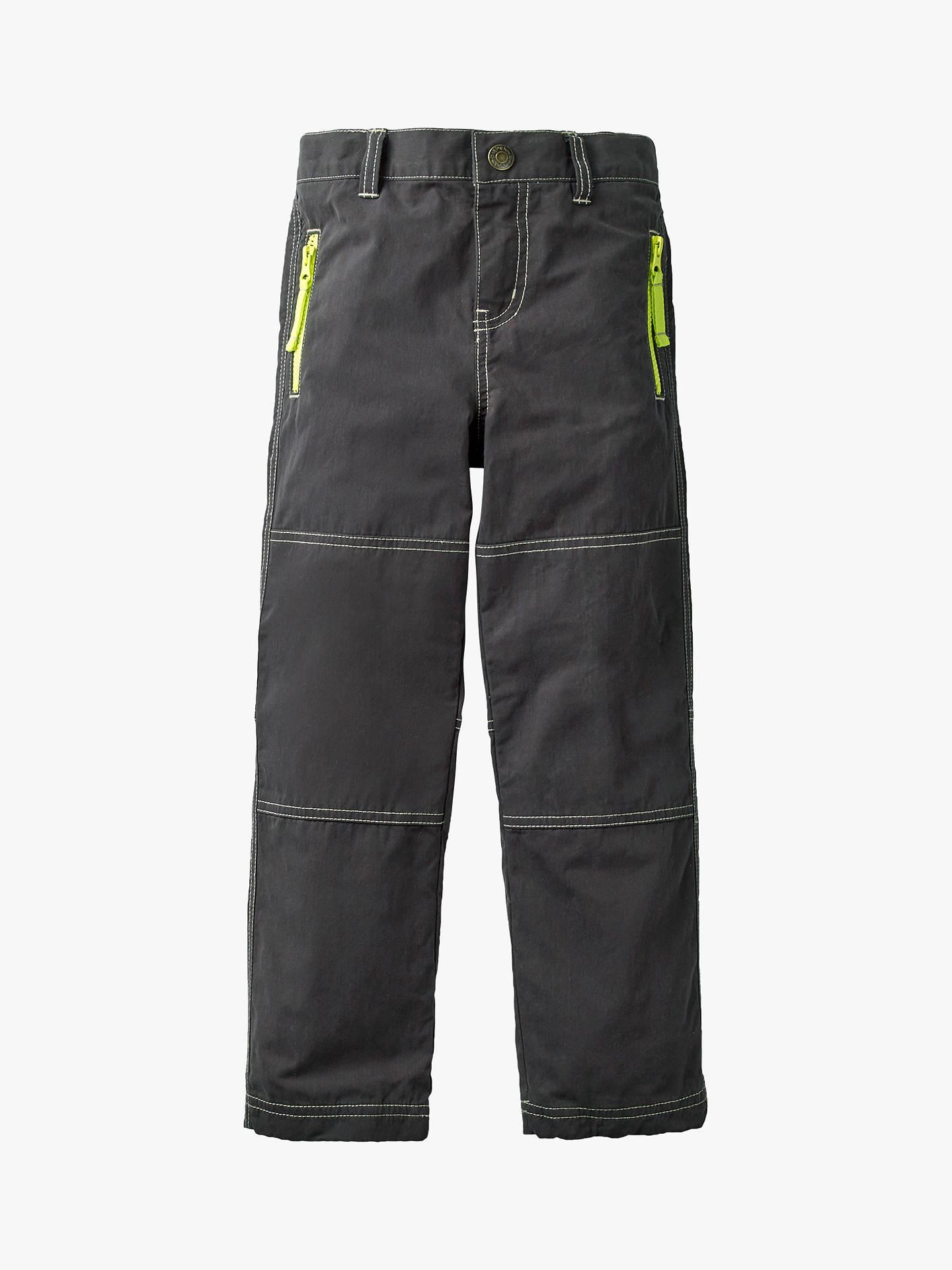 Mini Boden Boys Lined Skate Trousers Volcanic Rock Grey At John