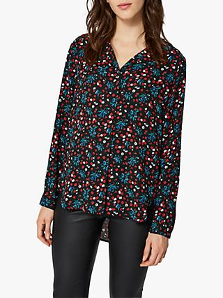 Selected Femme Dynella Print Long Sleeve Shirt, True Red