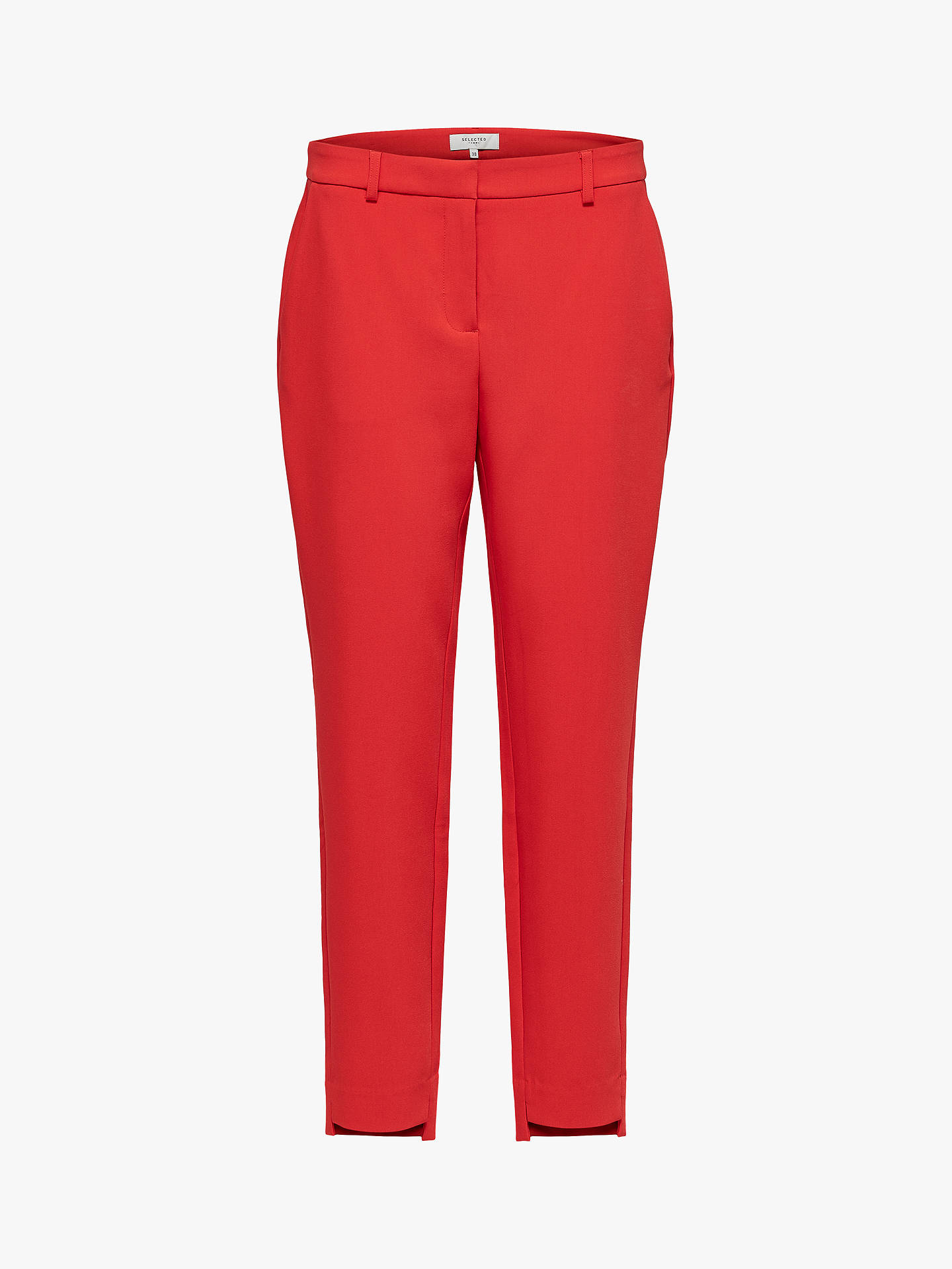 Buy Selected Femme Amila Trousers, True Red, 8 Online at johnlewis.com