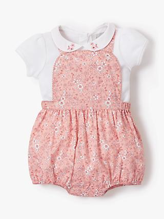 9ad62d0d9 John Lewis & Partners Heirloom Collection Floral Bibshort and T-Shirt Set,  Pink. Quick view