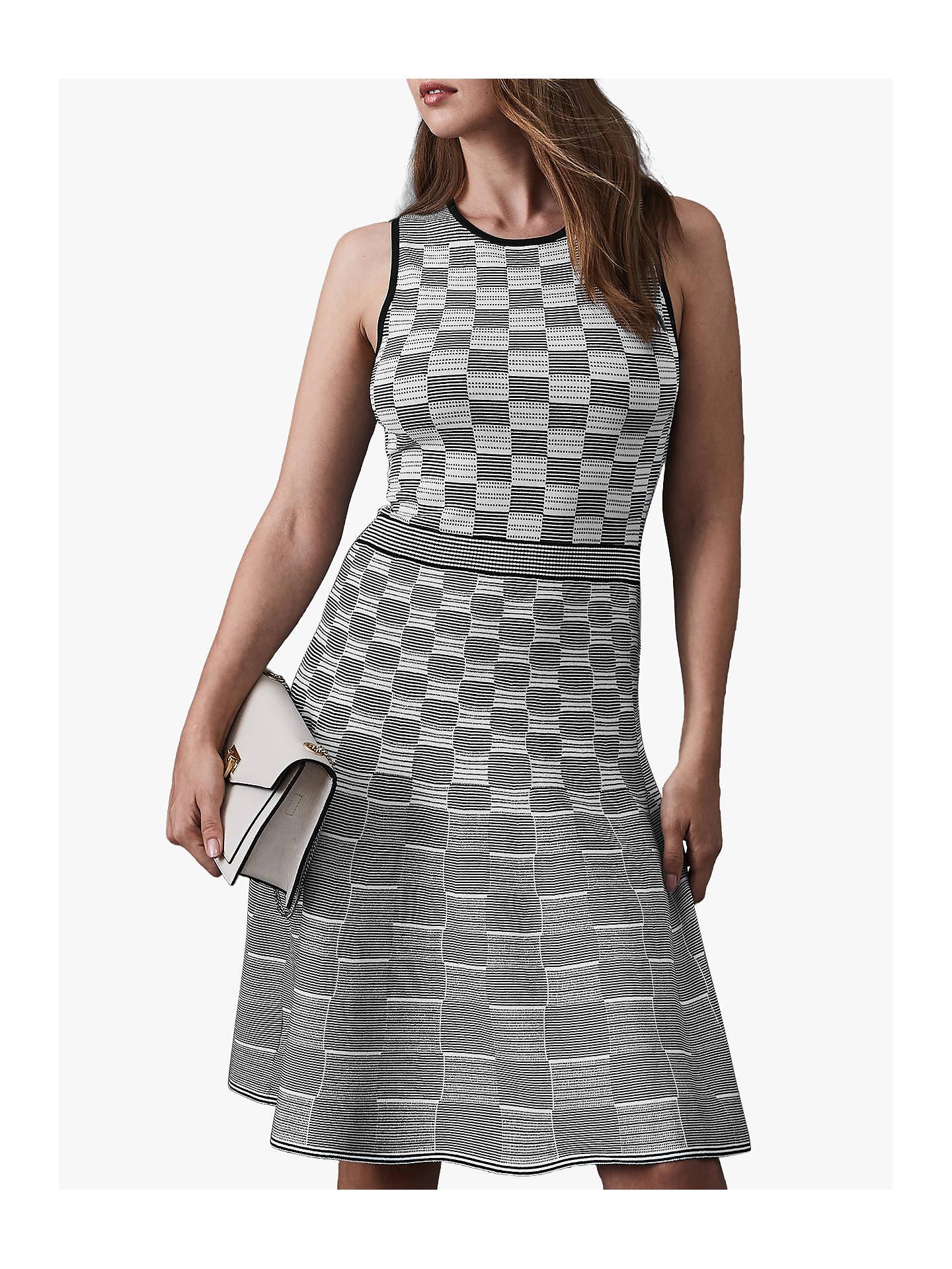 5f700fa8c8 BuyReiss Cassie Graph Jacquard Dress