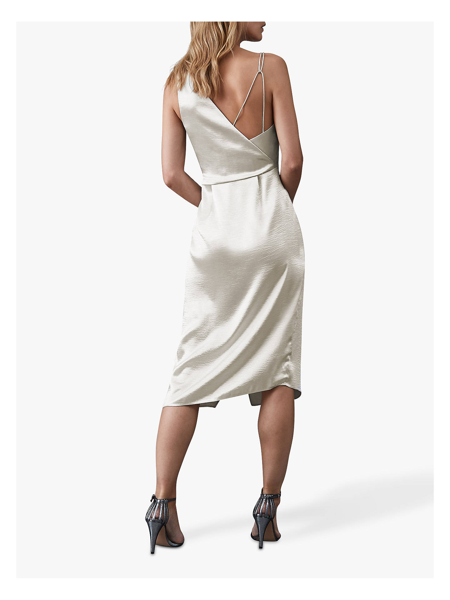 Buy Reiss Positano Strappy Cocktail Dress, Silver, 8 Online at johnlewis.com