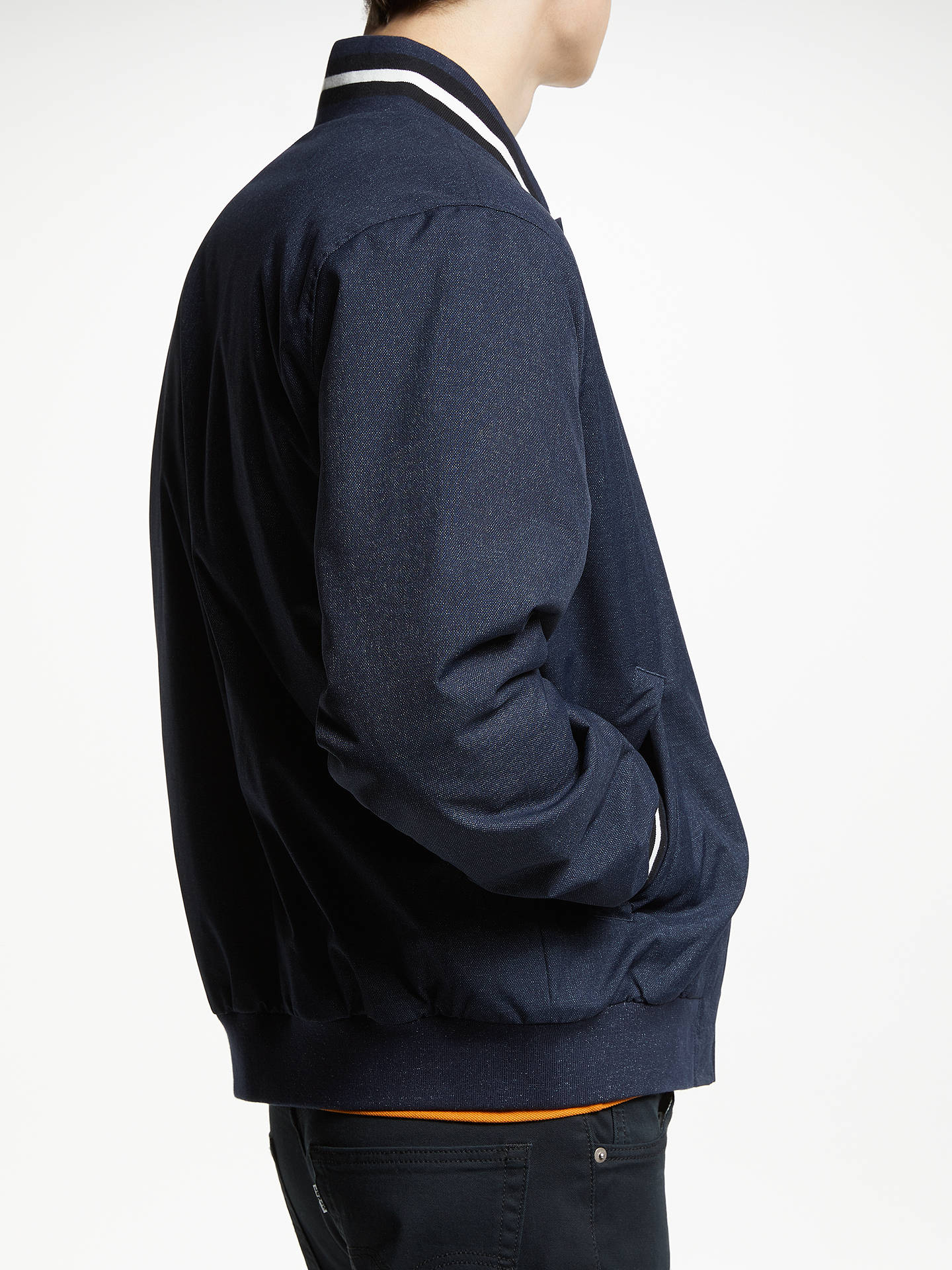 BuyFred Perry Marl Bomber Jacket, Navy, M Online at johnlewis.com