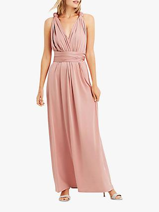 Oasis Annie Multiway Maxi Dress, Mid Pink
