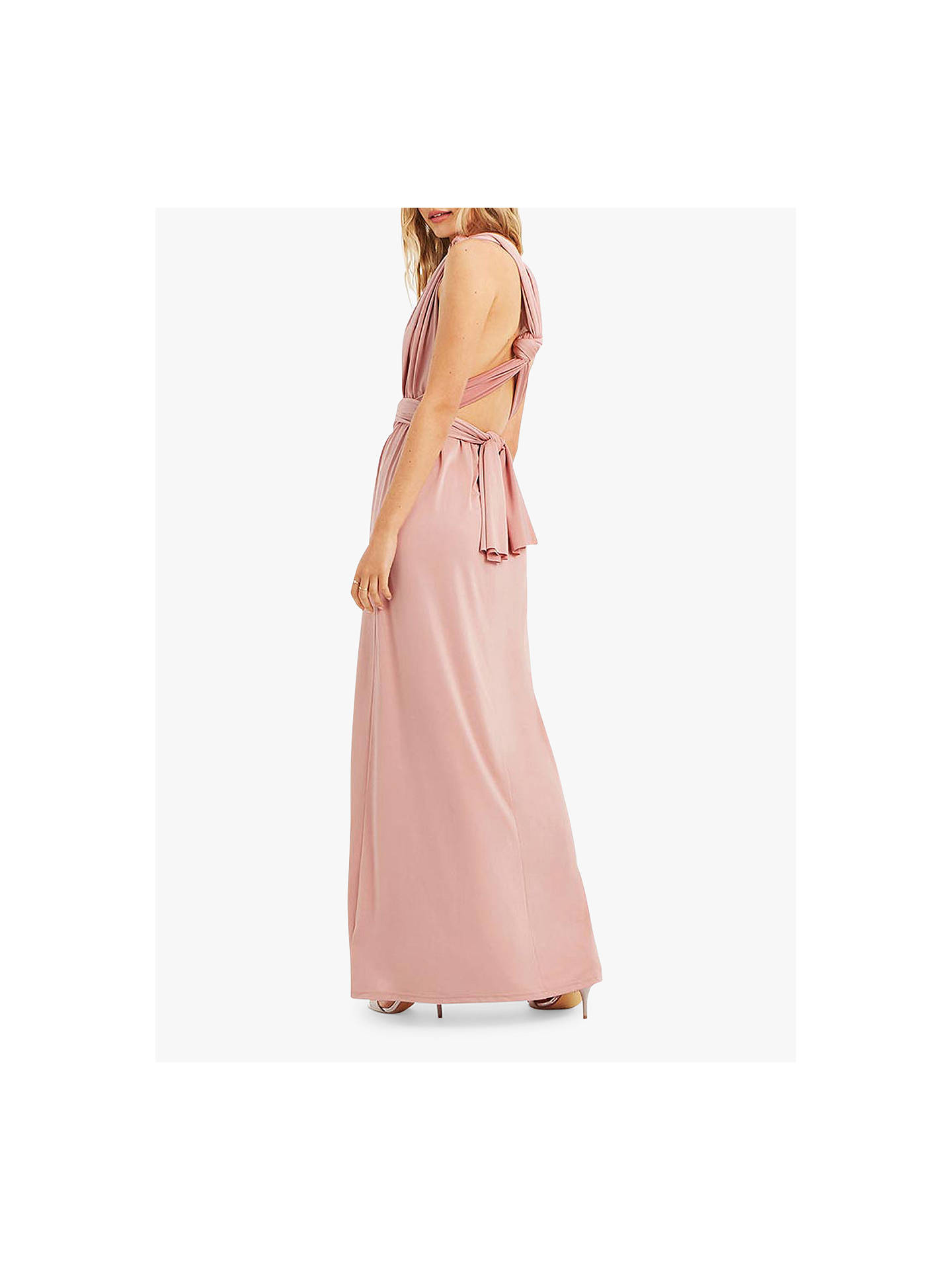 05bee7f032b1 ... Buy Oasis Annie Multiway Maxi Dress, Mid Pink, M Online at johnlewis.com