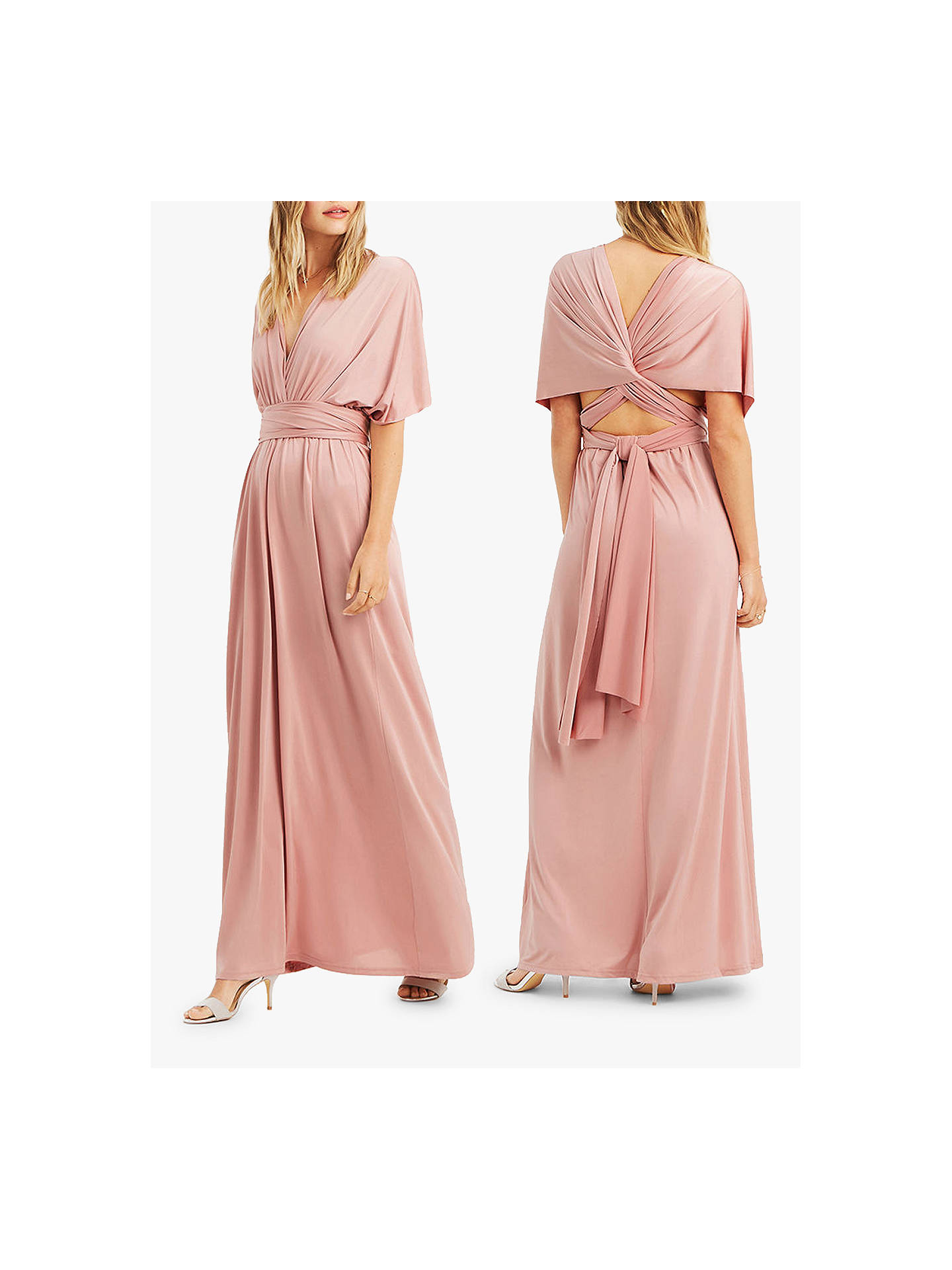 2bc23270e0c3 ... Buy Oasis Annie Multiway Maxi Dress, Mid Pink, M Online at  johnlewis.com ...