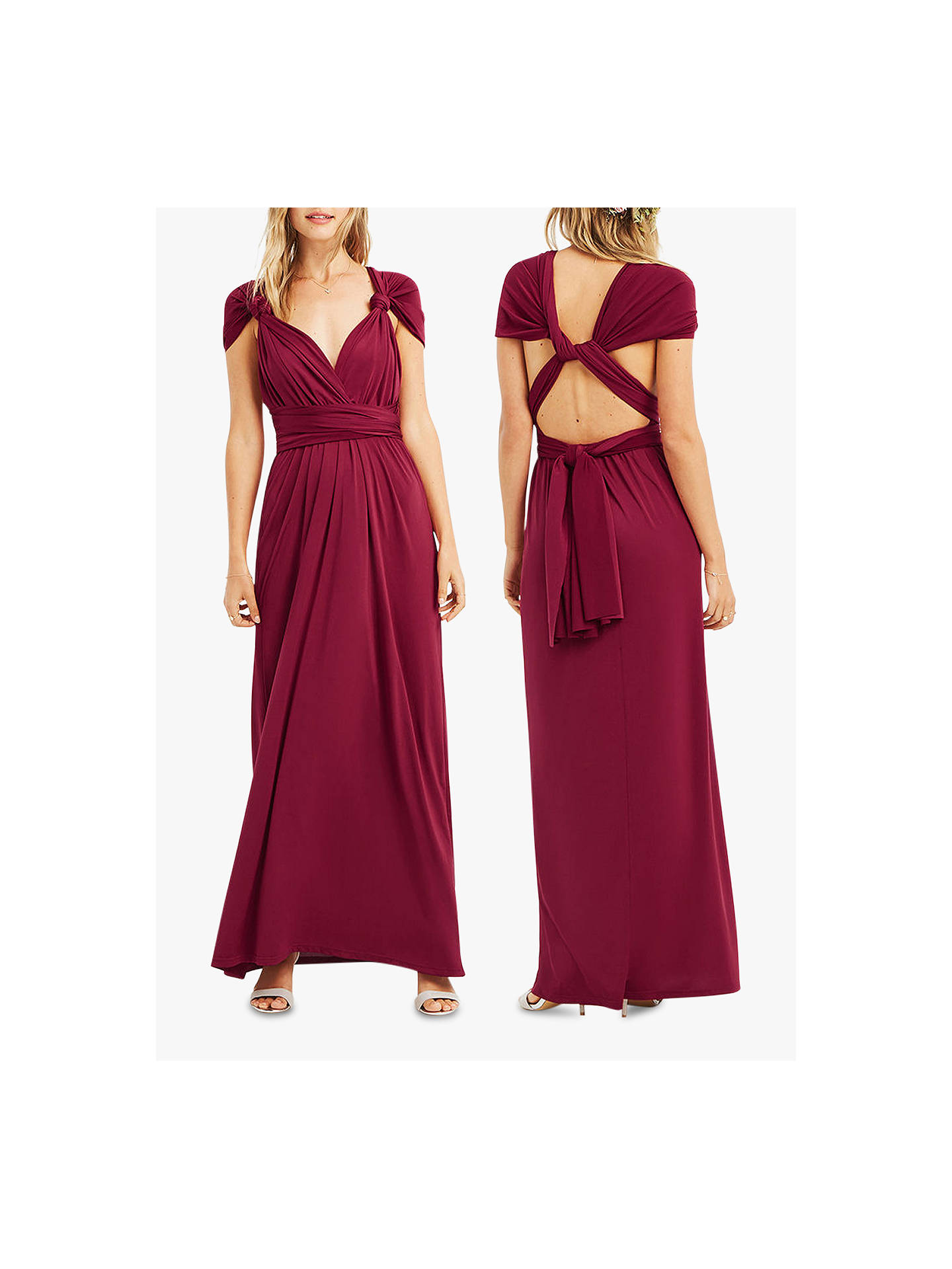 f6ccef688412 ... Buy Oasis Annie Multiway Maxi Dress, Burgundy, XS Online at  johnlewis.com ...