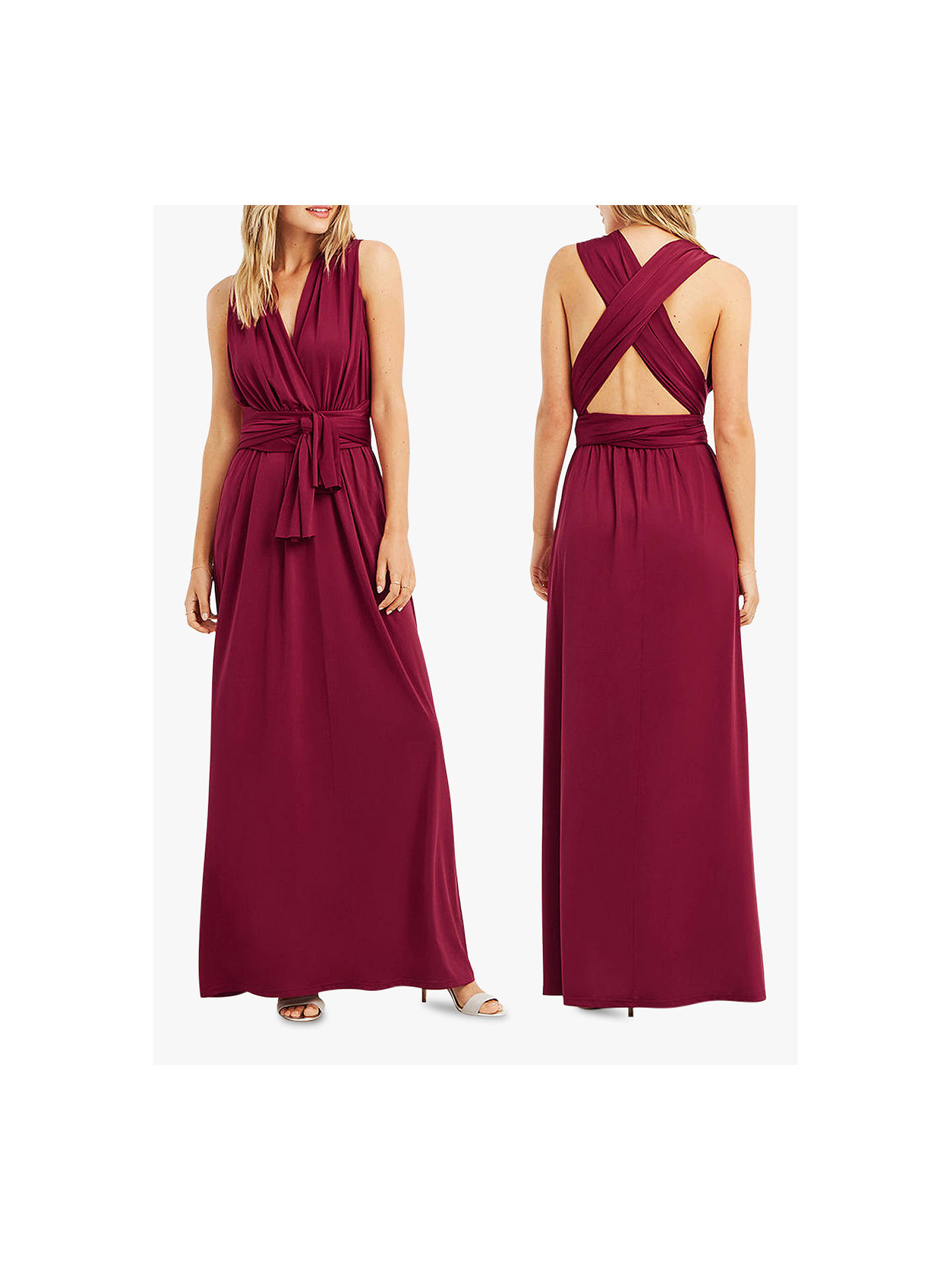 01cdc3854ce5 ... Buy Oasis Annie Multiway Maxi Dress, Burgundy, XS Online at  johnlewis.com