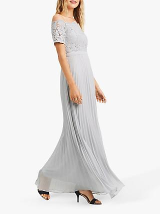 Oasis Lace Bardot Maxi Dress