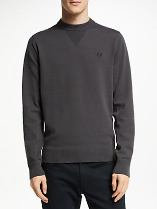 6f7e5d86 Fred Perry V Insert Crew Neck Jumper, Anchor Grey