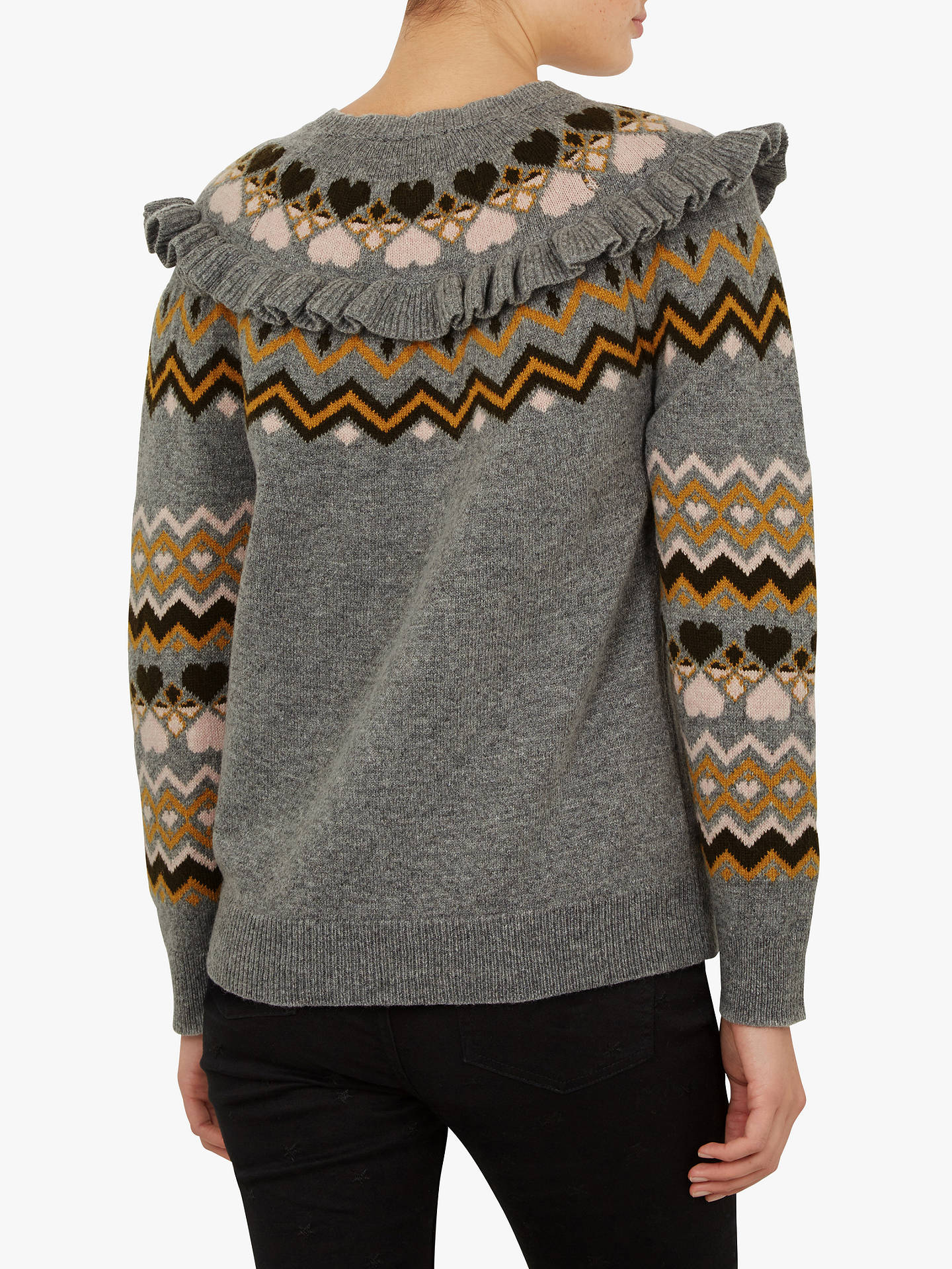 BuyTed Baker Mysheli Sweater, Mid Grey, 3 Online at johnlewis.com