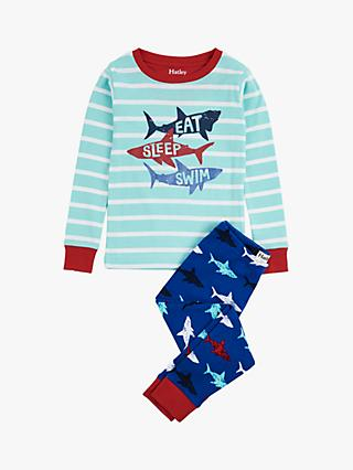 Hatley Boys' Shark Applique Pyjamas, Blue