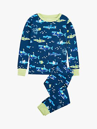 Hatley Boys' Glow In The Dark Submarine Pyjamas, Navy