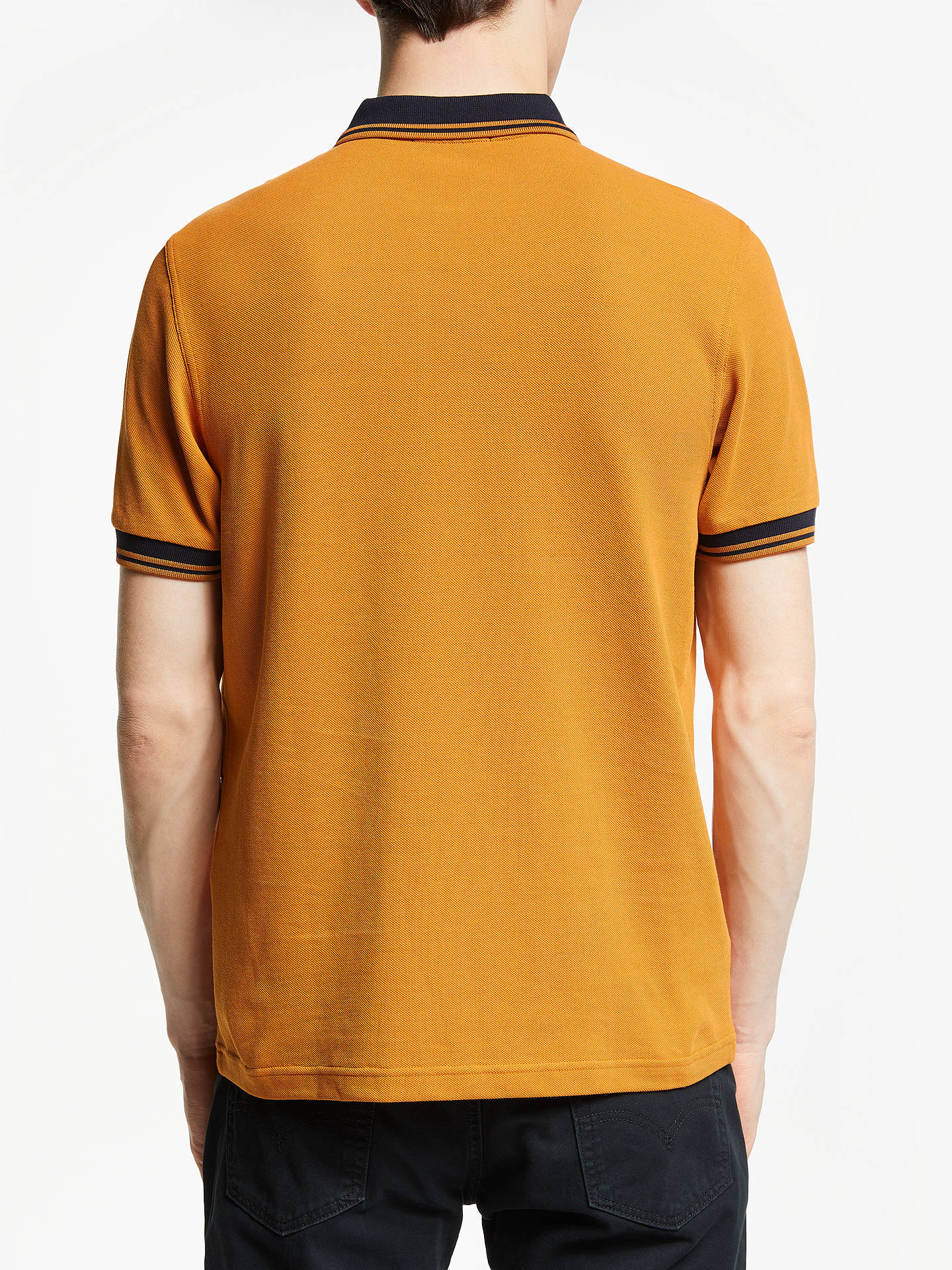 92e5a97f Buy Fred Perry Twin Tipped Polo Shirt, Burnt Amber, S Online at johnlewis.