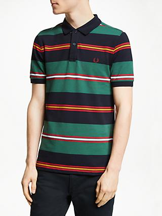 633fa67ba3 Fred Perry Contrasting Stripe Short Sleeve Polo Shirt