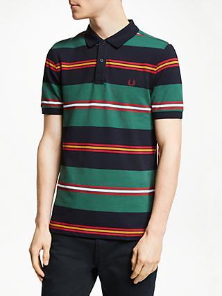 e29b2e6c7b5 Fred Perry Contrasting Stripe Short Sleeve Polo Shirt