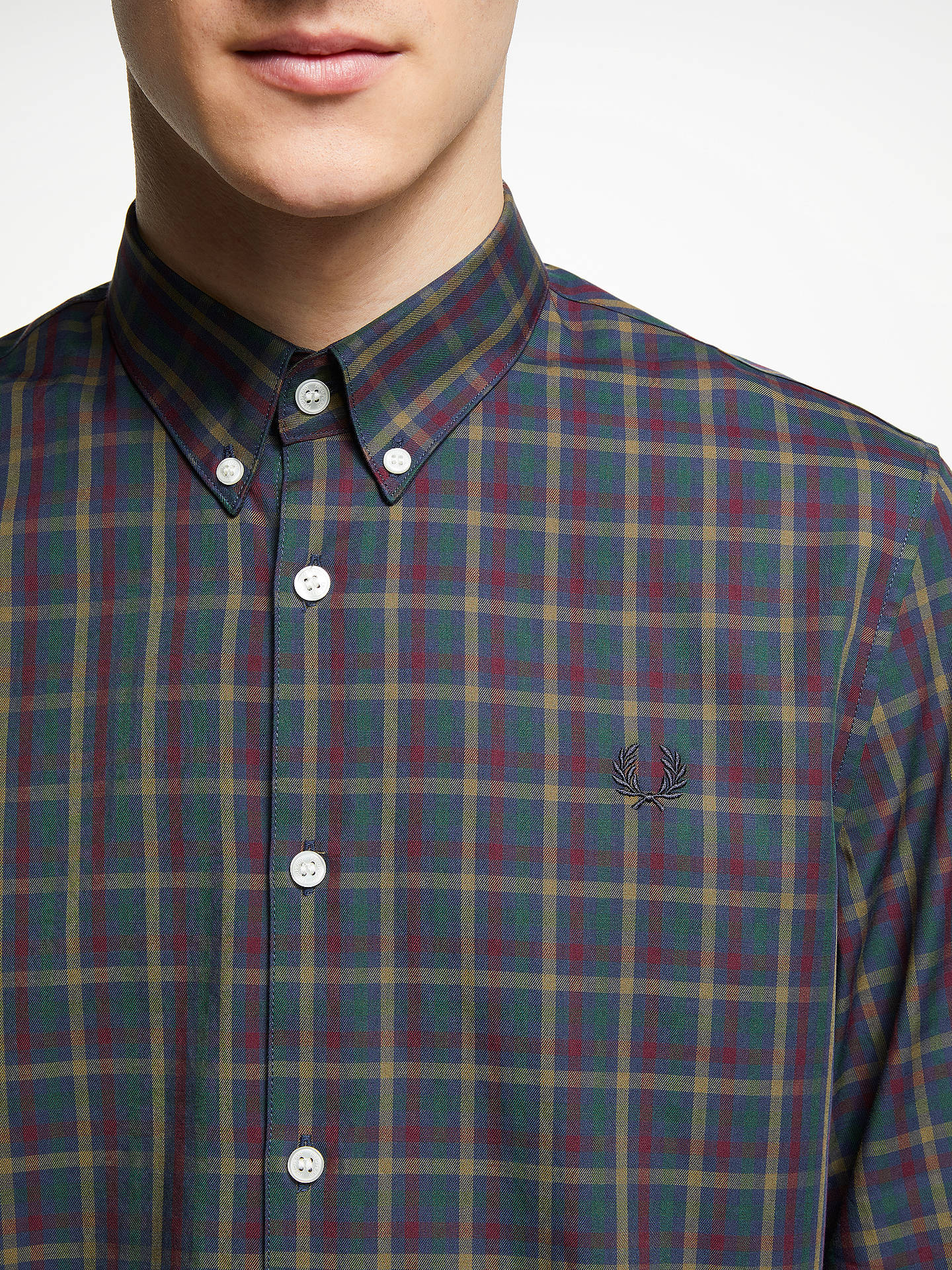 320935960 Fred Perry Twill Check Long Sleeve Shirt at John Lewis   Partners