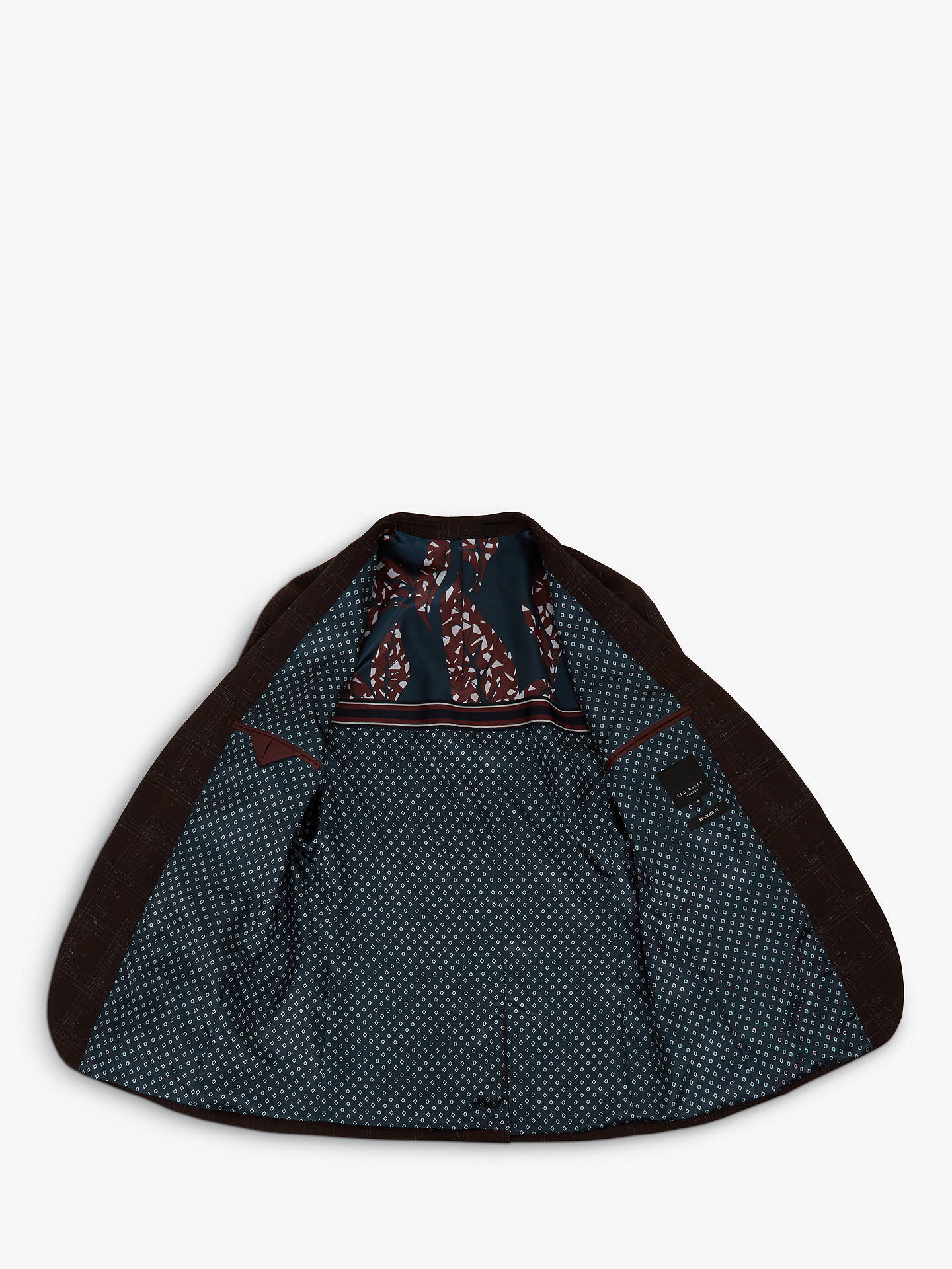 Buy Ted Baker Boucle Check Jacket, Dark Red, XXL Online at johnlewis.com
