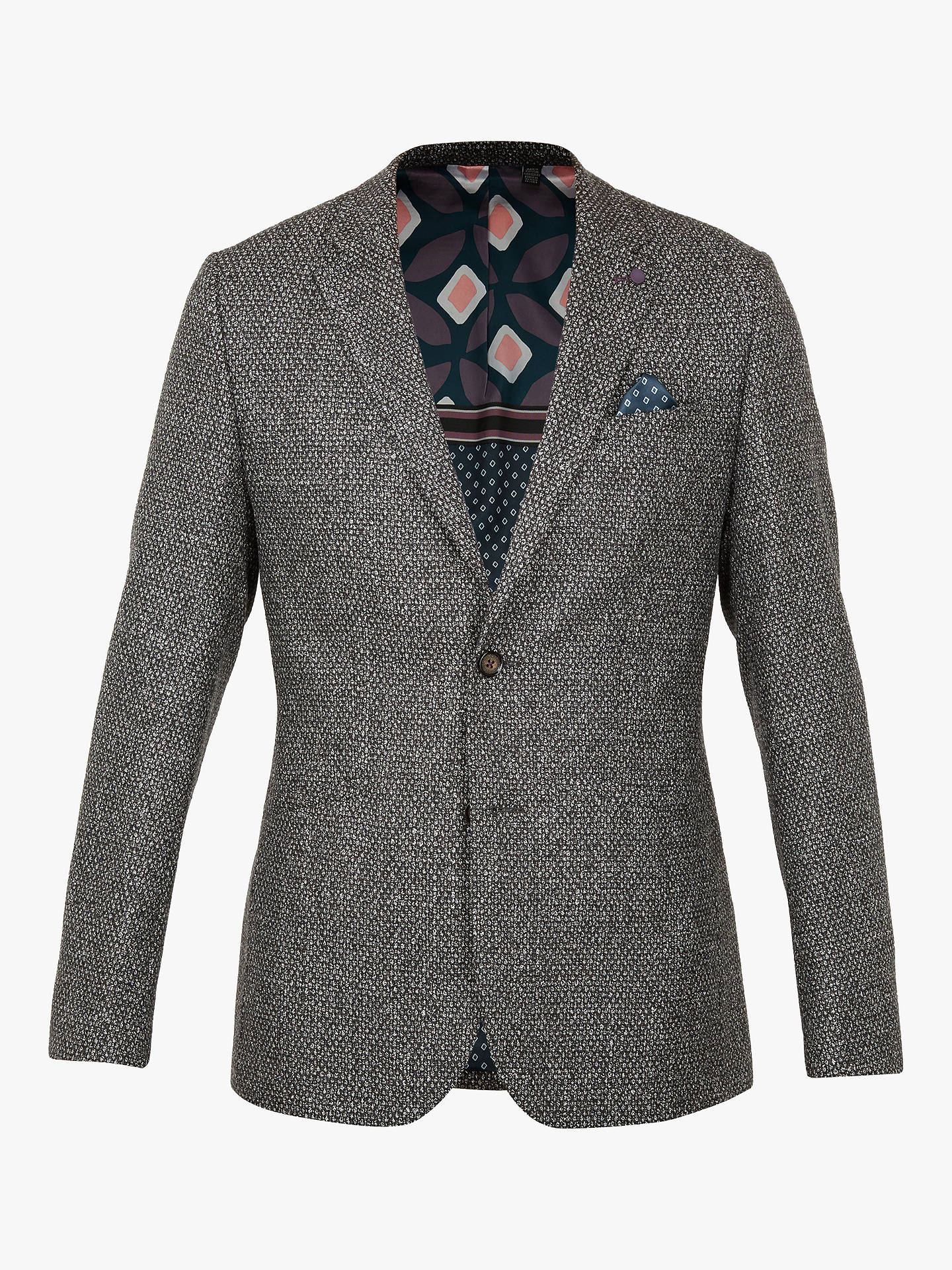 BuyTed Baker Pickl Boucle Jacket, Grey, XXL Online at johnlewis.com