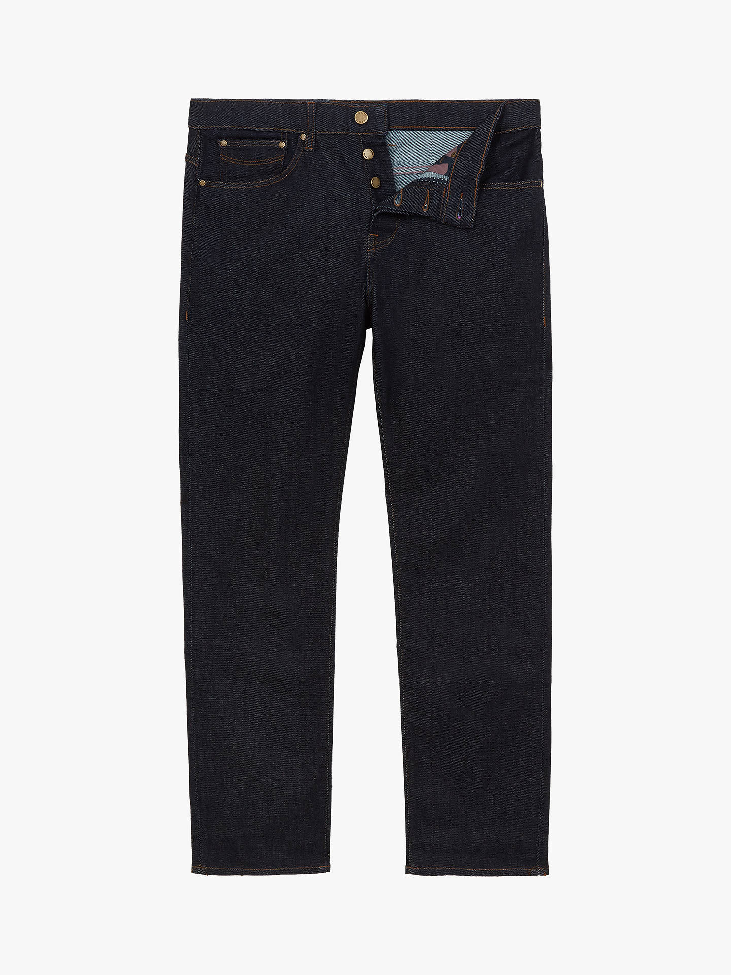 BuyTed Baker Marquee Original Fit Jeans, Blue, 40L Online at johnlewis.com