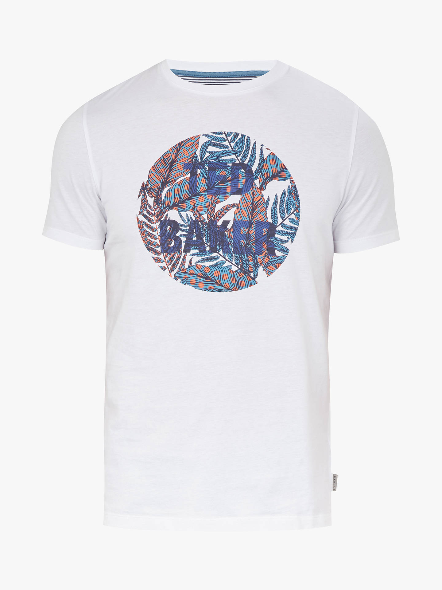 Buy Ted Baker Deelo Graphic T-Shirt, White, XXXL Online at johnlewis.com