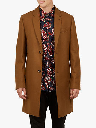 Buy Ted Baker Falo Pin Dot Coat, Brown Camel, XXXL Online at johnlewis.com