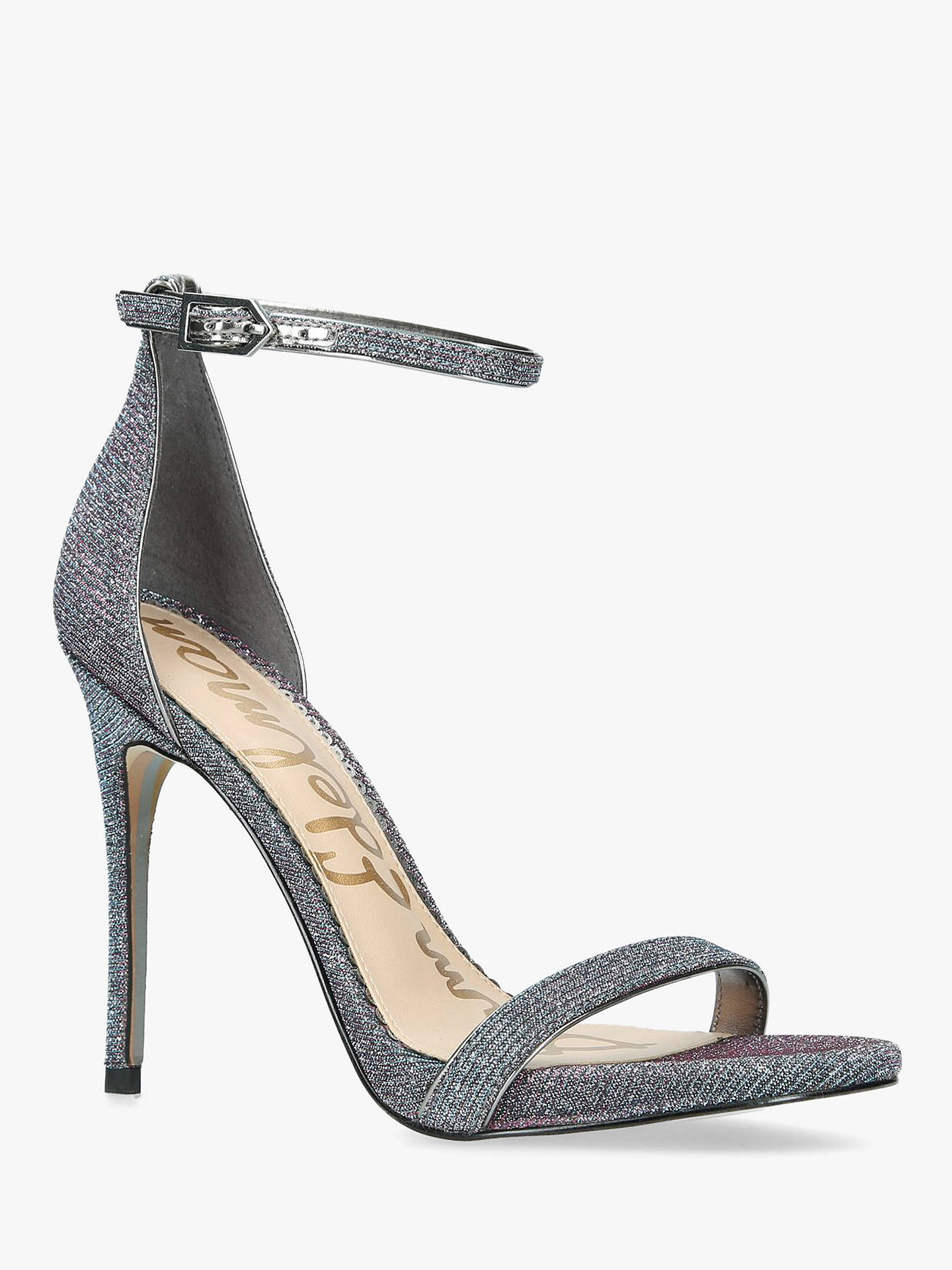 Buy Sam Edelman Ariella Ankle Strap Heeled Sandals, Pink/Grey, 7 Online at johnlewis.com