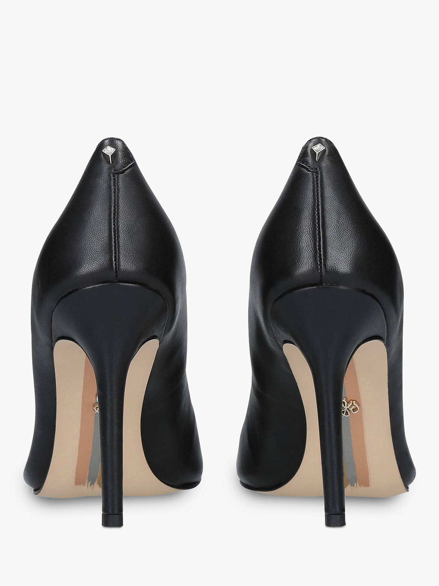 BuySam Edelman Hazel Stiletto Heel Court Shoes, Black Leather, 9 Online at johnlewis.com