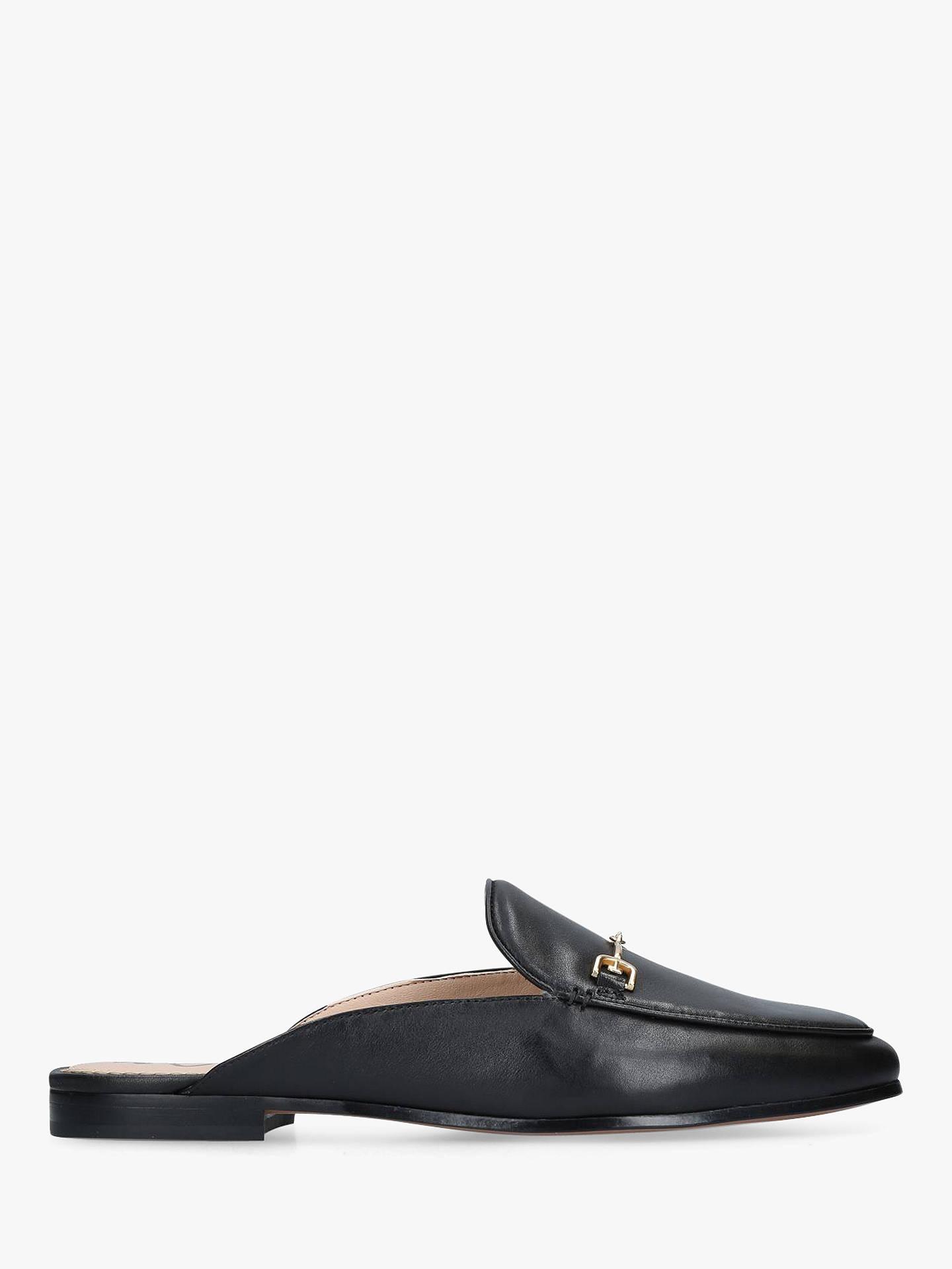 42c7ab37070d Buy Sam Edelman Linnie Mule Loafers, Black Leather, 2 Online at  johnlewis.com ...