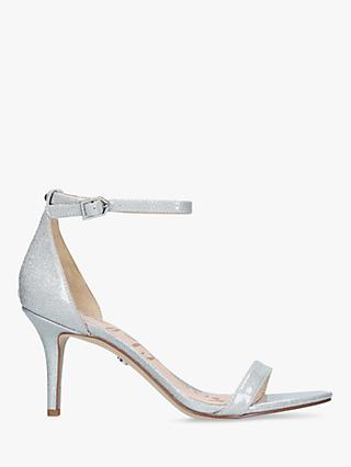 Sam Edelman Patti Ankle Strap Heeled Sandals, Silver