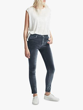 French Connection Velvet High Rise Skinny Jeans
