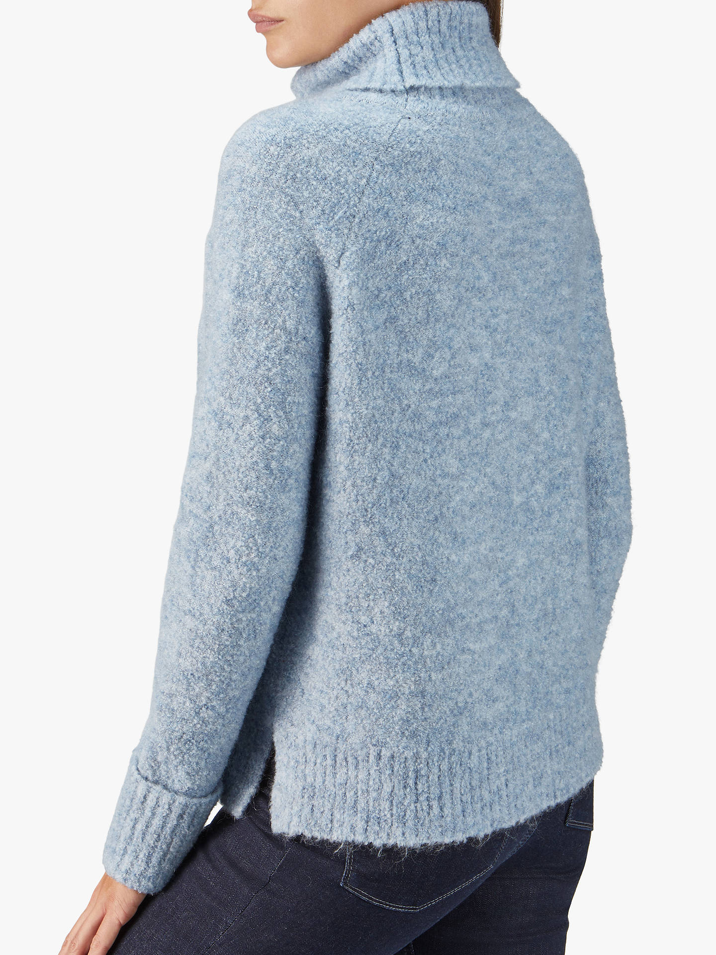BuyPure Collection Boucle Jumper, Light Blue, 8 Online at johnlewis.com