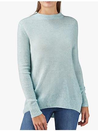 Pure Collection Cashmere Jumper, Light Blue
