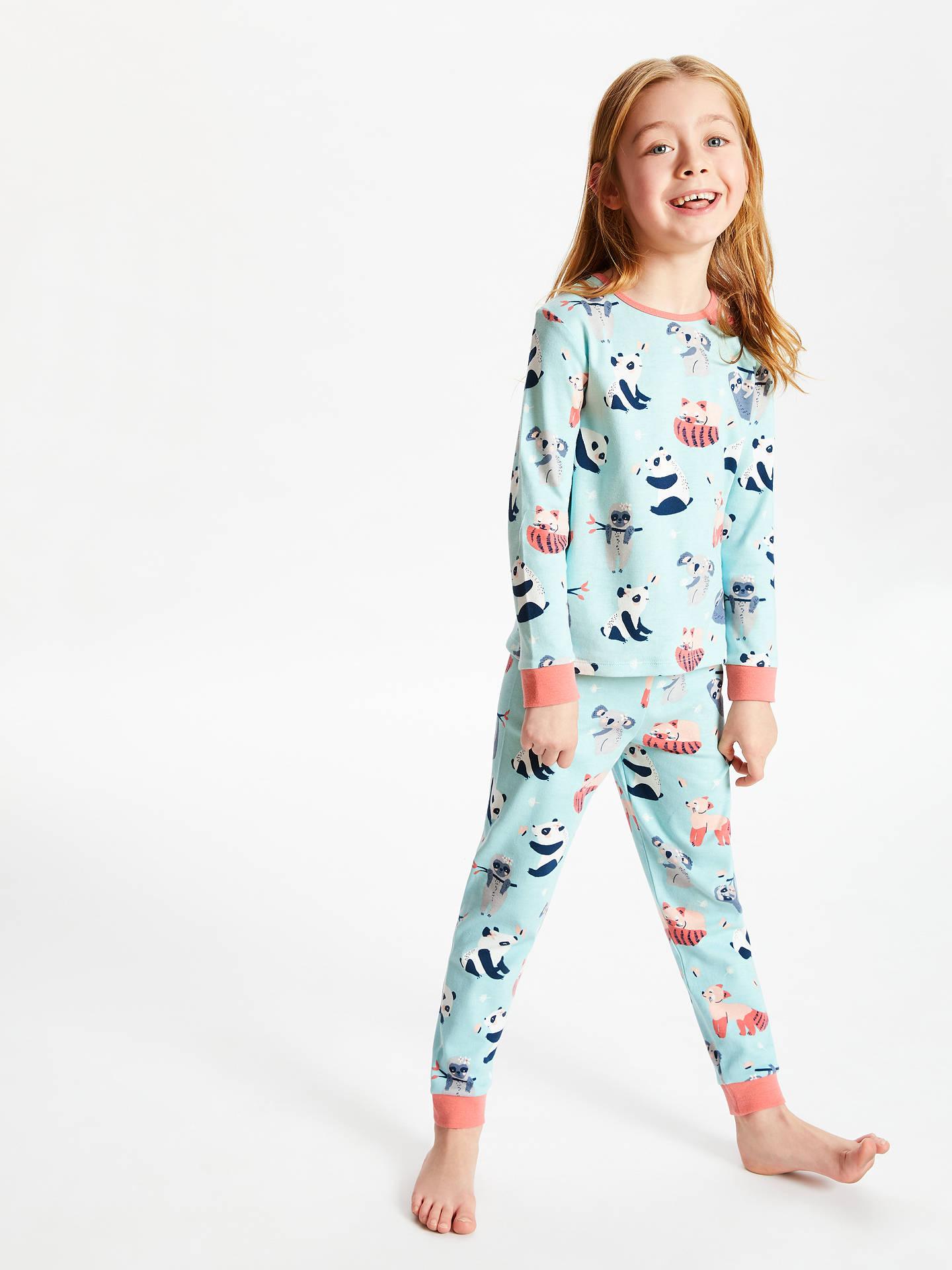 BuyJohn Lewis   Partners Girls  Panda Print Pyjamas d7a02a800