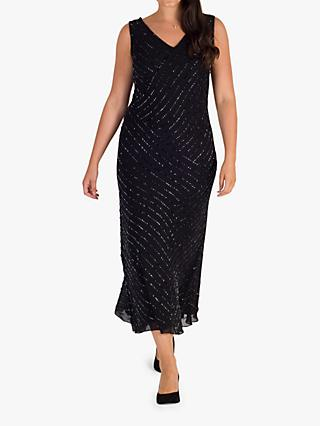 Chesca Diagonal Beaded Dress