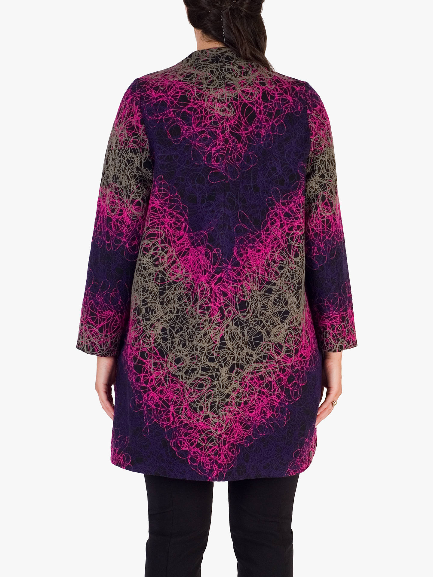 BuyChesca Asymmetric Embroidered Coat, Grape/Pink, 12-14 Online at johnlewis.com