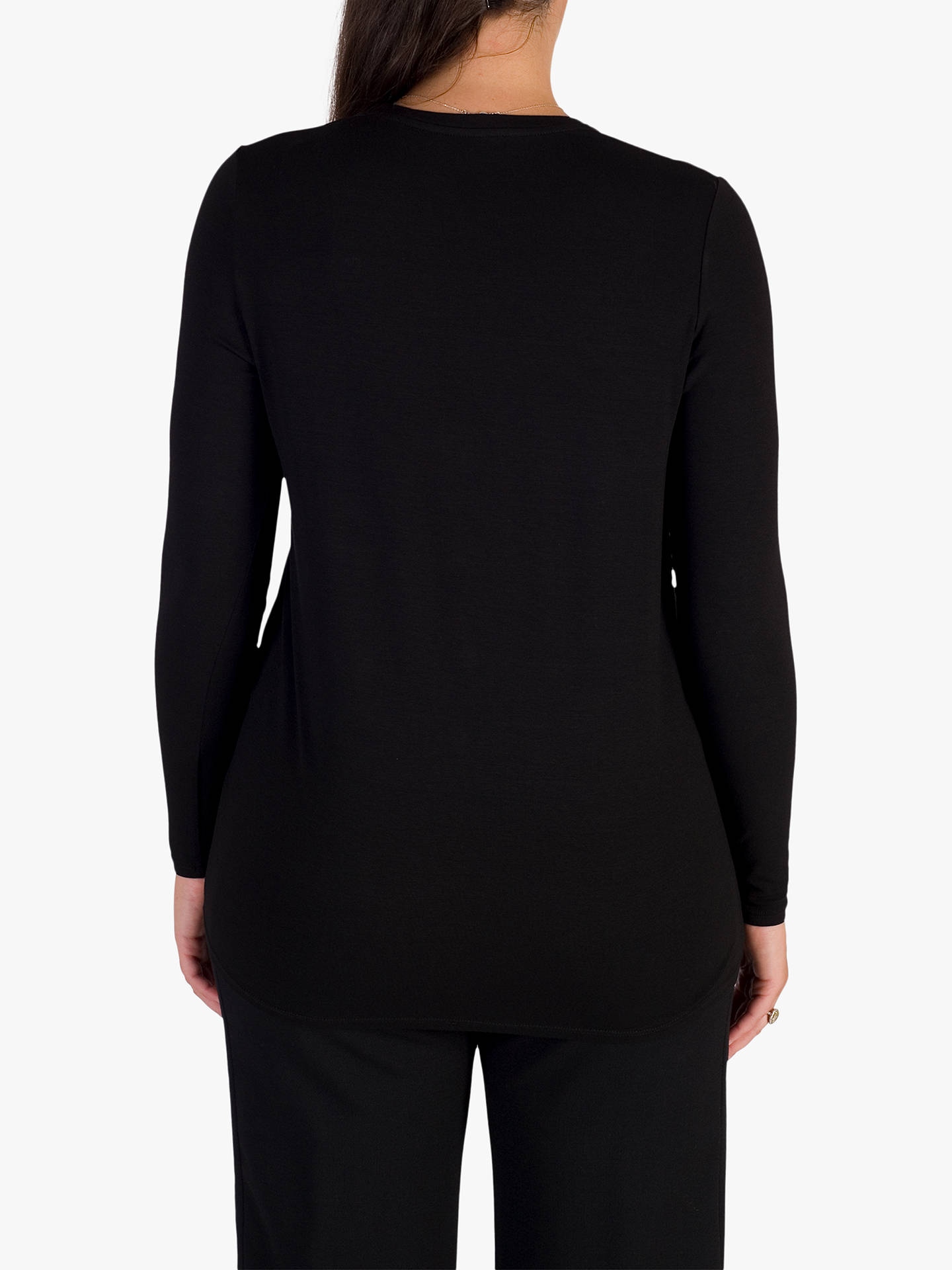 BuyChesca Jersey & Crepe Top, Black, 12-14 Online at johnlewis.com