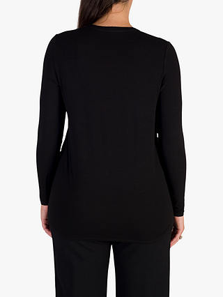 Buy Chesca Jersey & Crepe Top, Black, 12-14 Online at johnlewis.com