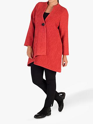 Chesca Asymmetric Coat, Orange