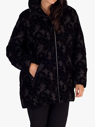 Chesca Flocked Coat, Black