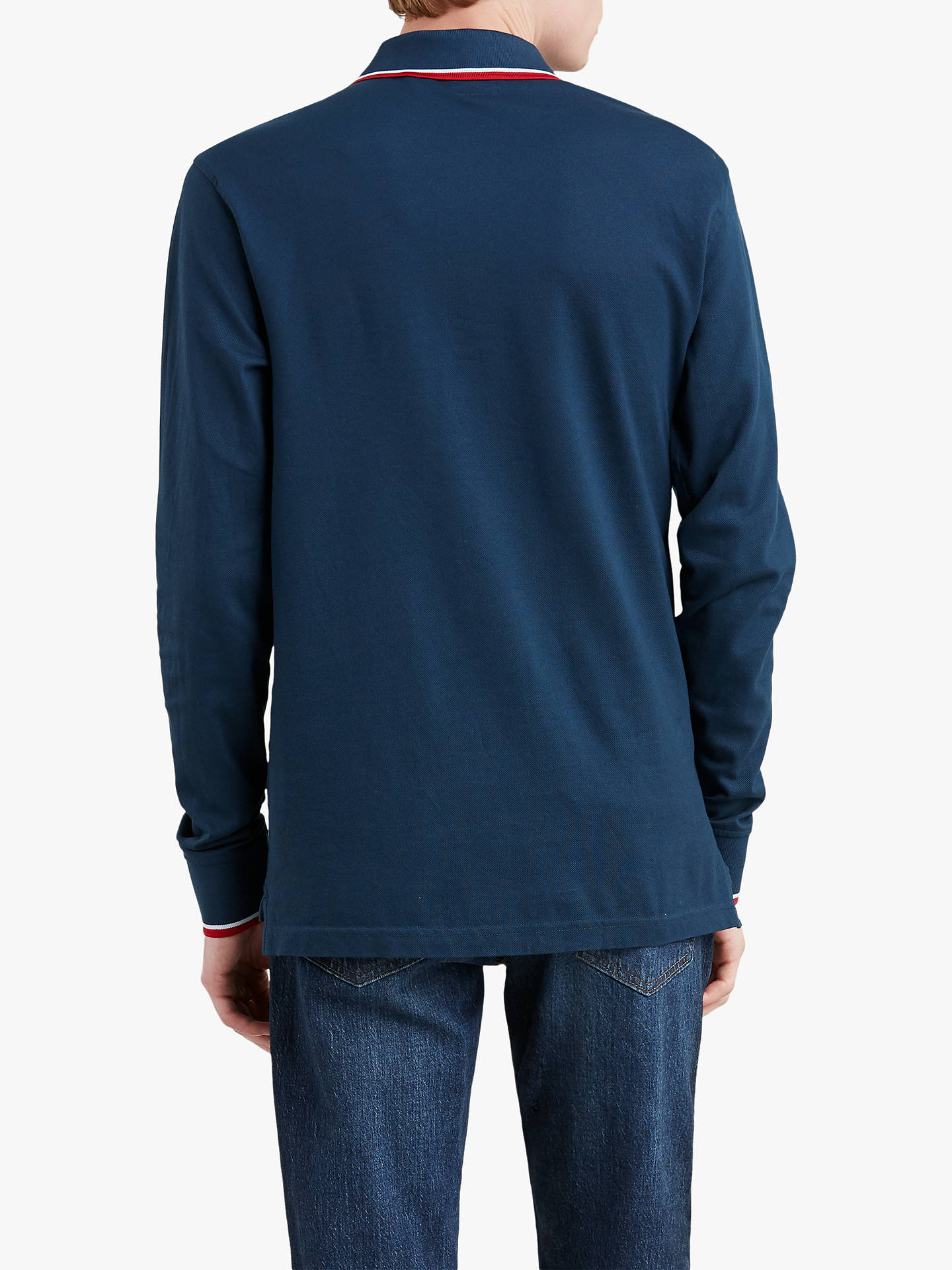 b7f8aa563743 ... Buy Levi's Long Sleeve Modern Hm Polo Shirt, Dress Blue, M Online at  johnlewis ...