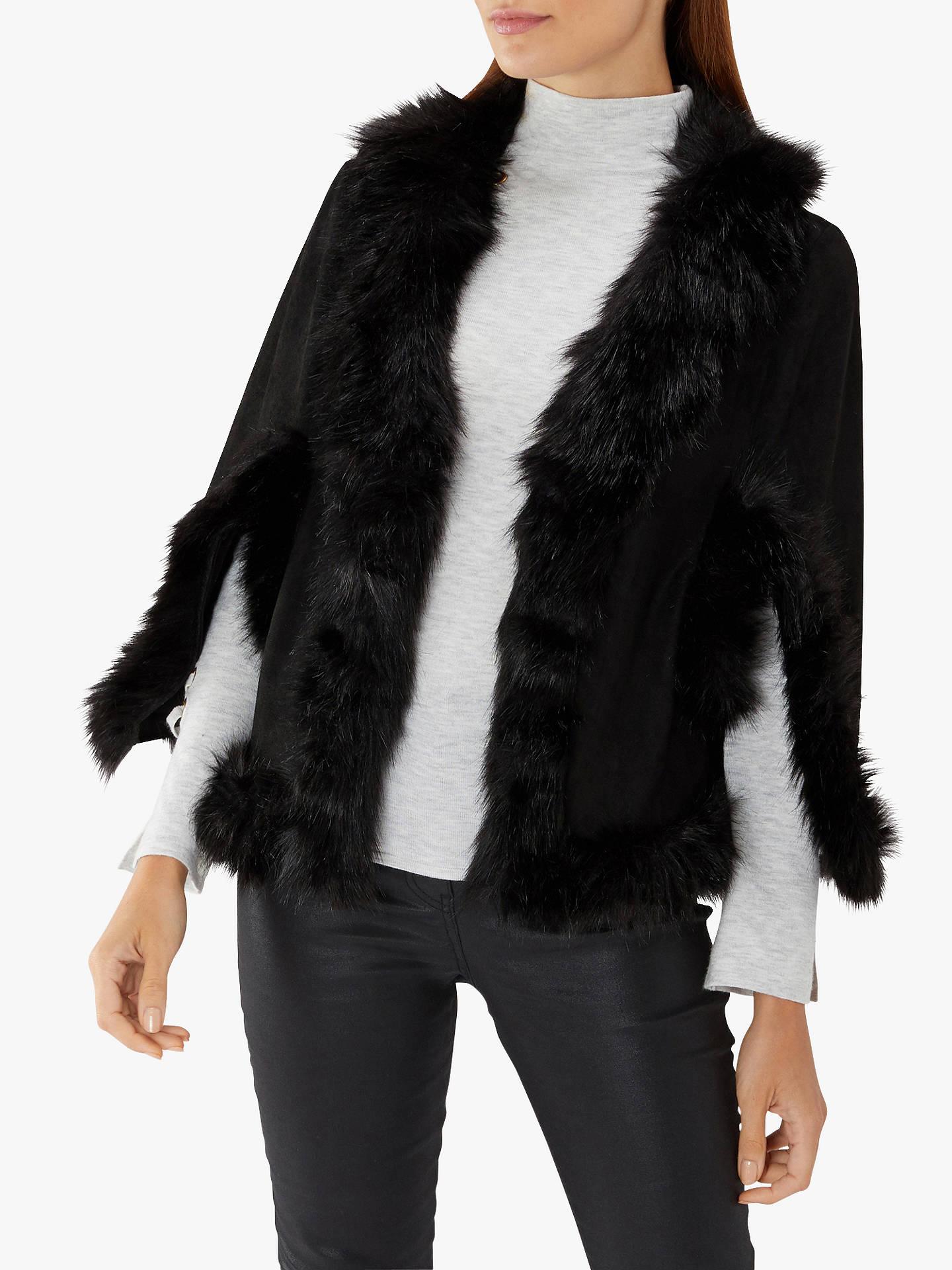 897d636fa56c Coast Amber Ultra Soft Faux Fur Cape at John Lewis   Partners