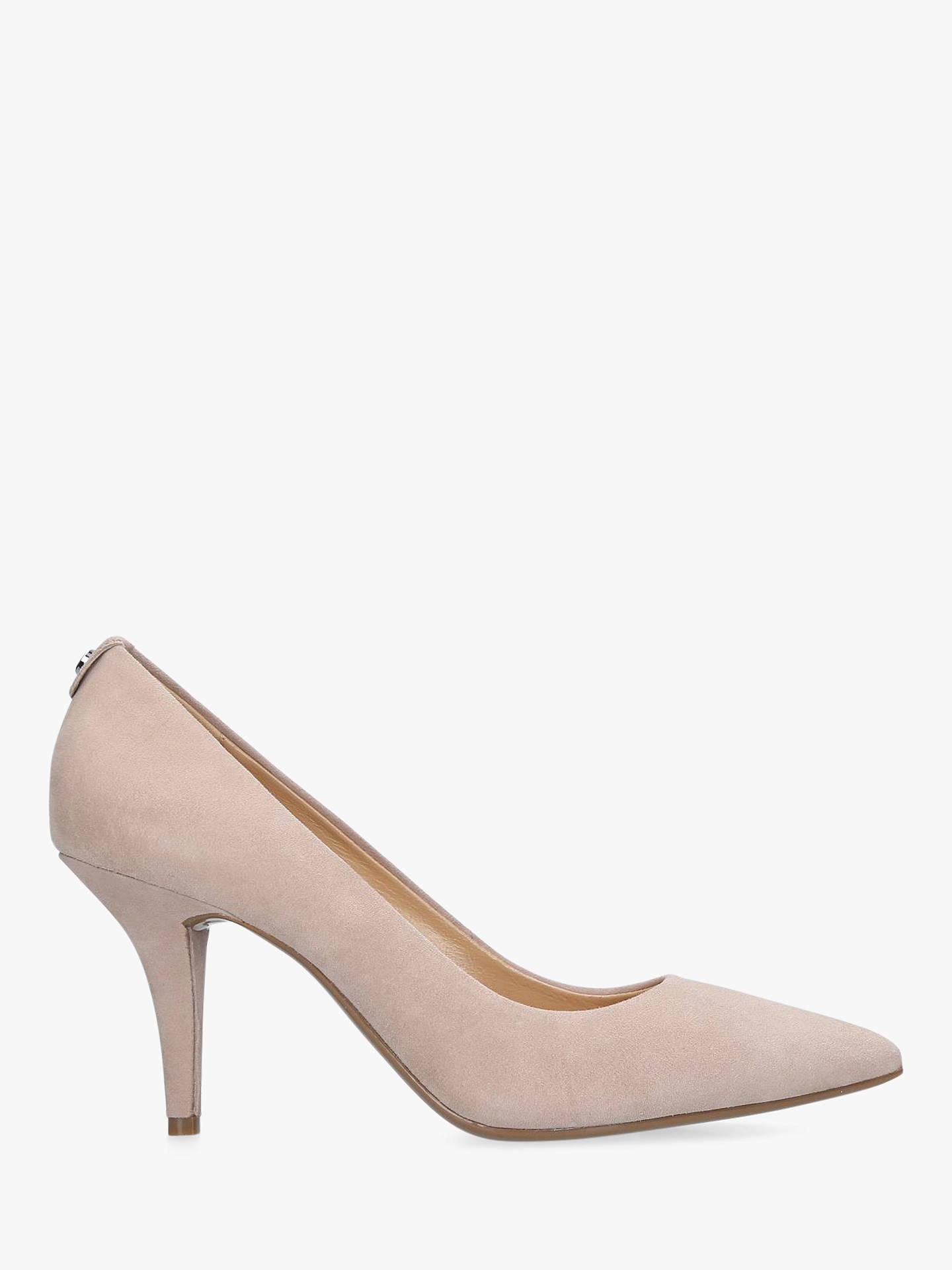 80d7a9a3883 MICHAEL Michael Kors Flex Pointed Court Shoes, Nude Suede at John ...