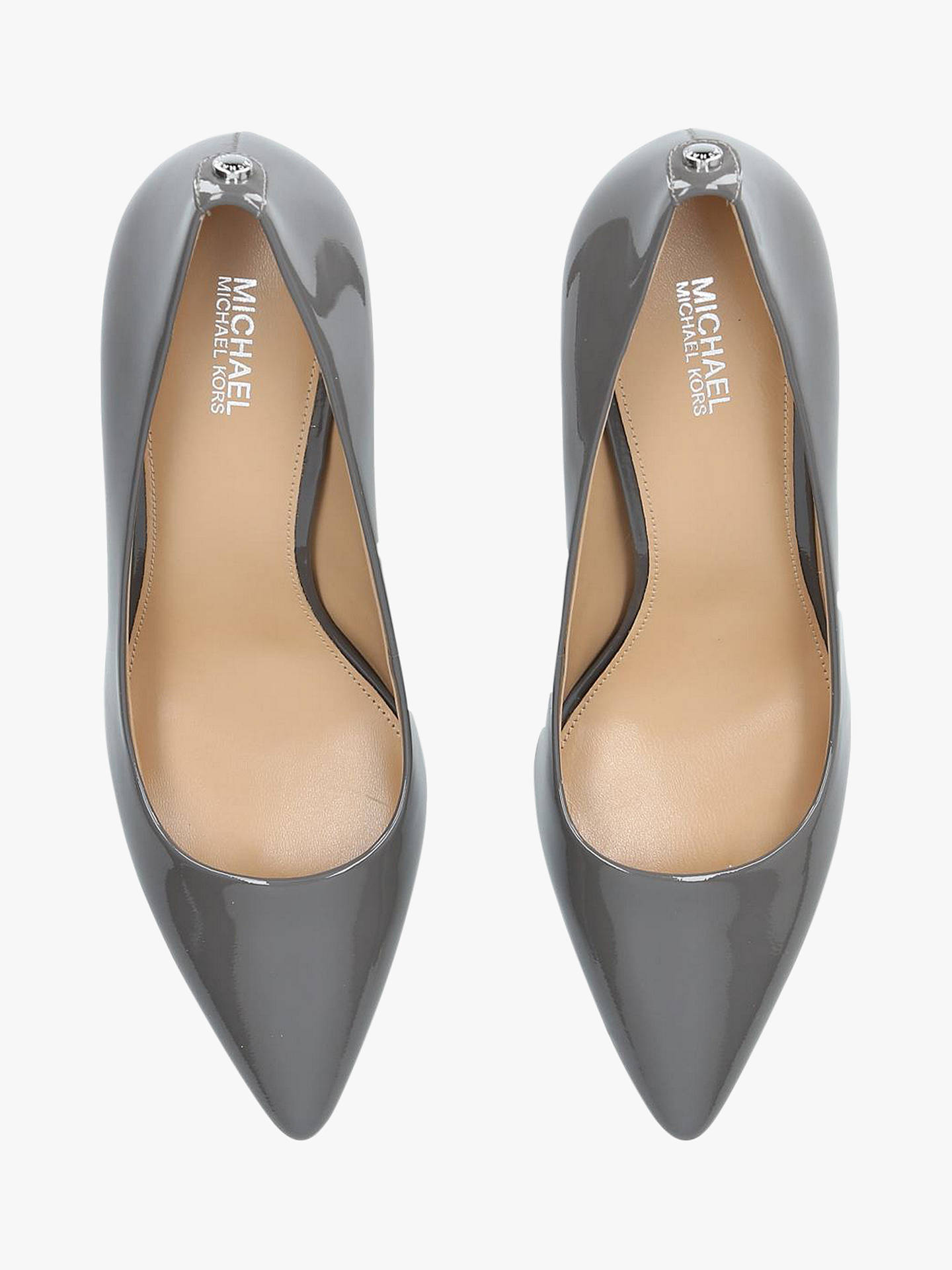 5d8436f171 ... Buy MICHAEL Michael Kors Dorothy Flex Pointed Court Shoes, Grey Patent,  2 Online at ...