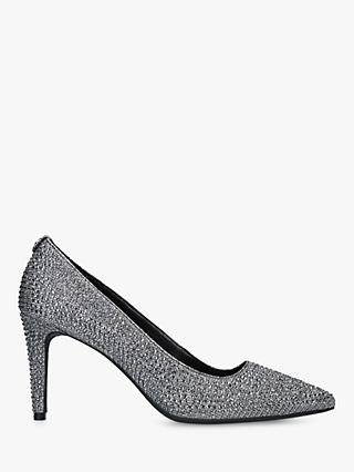 MICHAEL Michael Kors Dorothy Flex Pointed Court Shoes, Black Sparkle