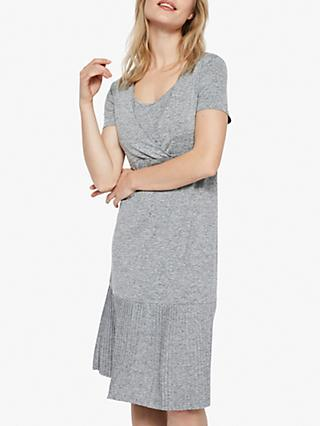 Mamalicious Kada Tess Jersey Nursing Dress, Grey Melange