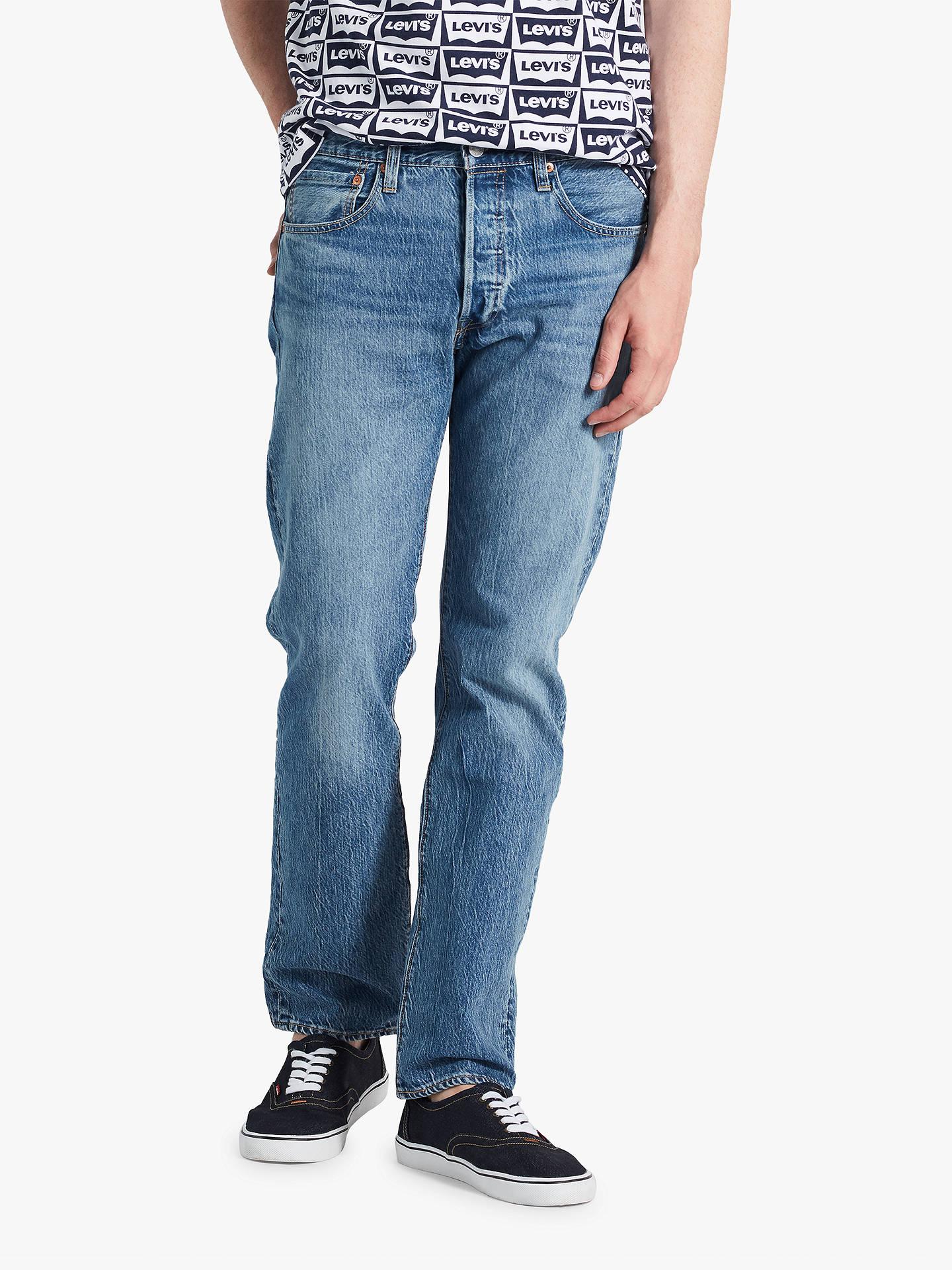 Buy Levi's 501 Original Fit Jeans, Pipe Light, 30S Online at johnlewis. ...