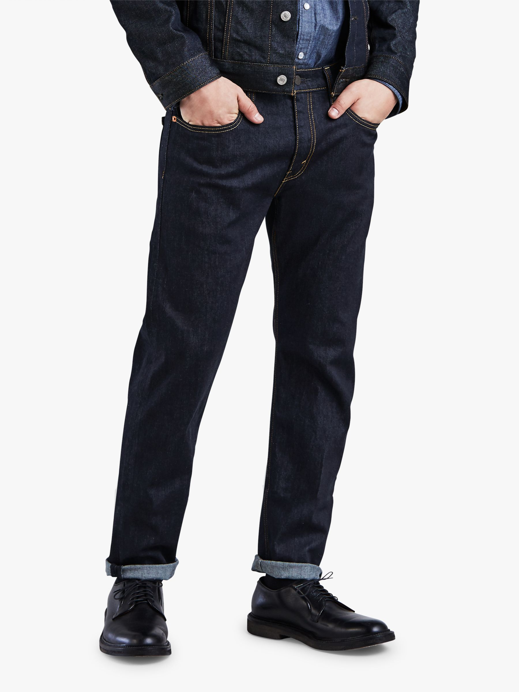 4255fcaf9e9 Levi's 502 Regular Tapered Jeans, Rock Cod at John Lewis & Partners