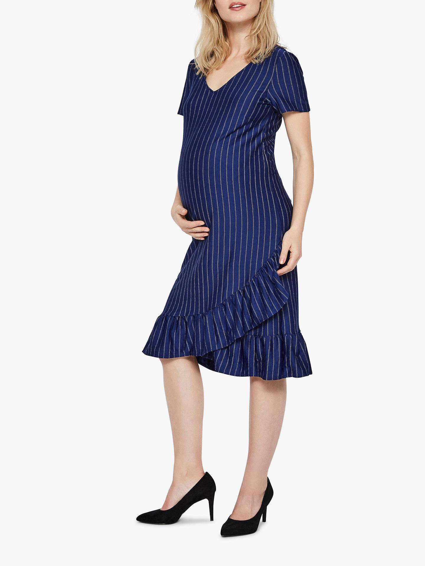 Mamalious Classic Jersey Maternity Dress Size 8-20 Blue
