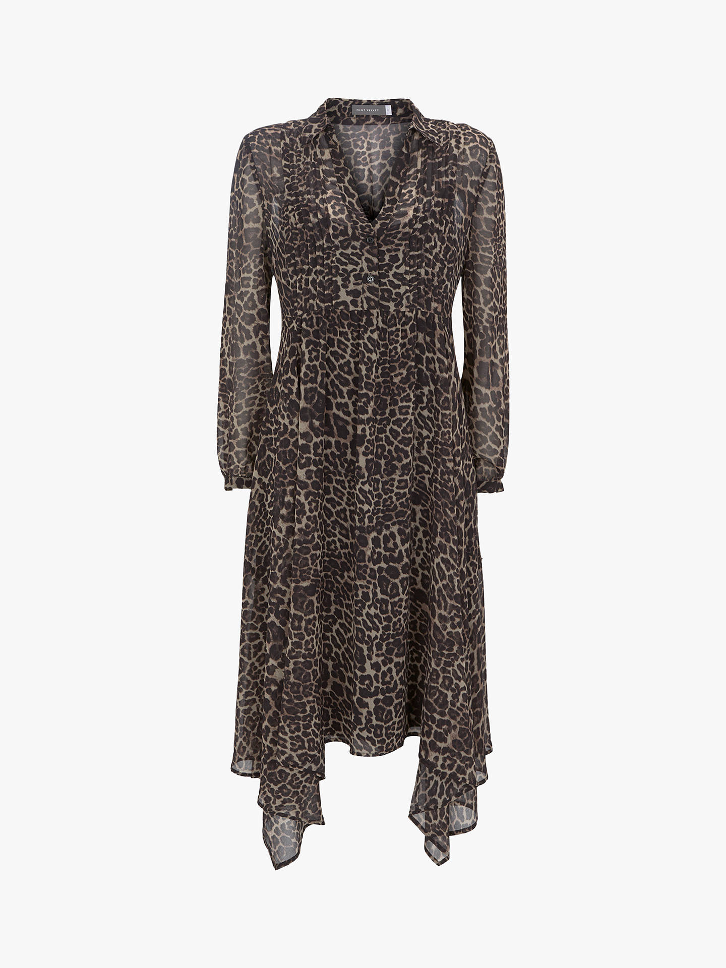 BuyMint Velvet Tessa Print Midi Shirt Dress, Multi, 6 Online at johnlewis.com